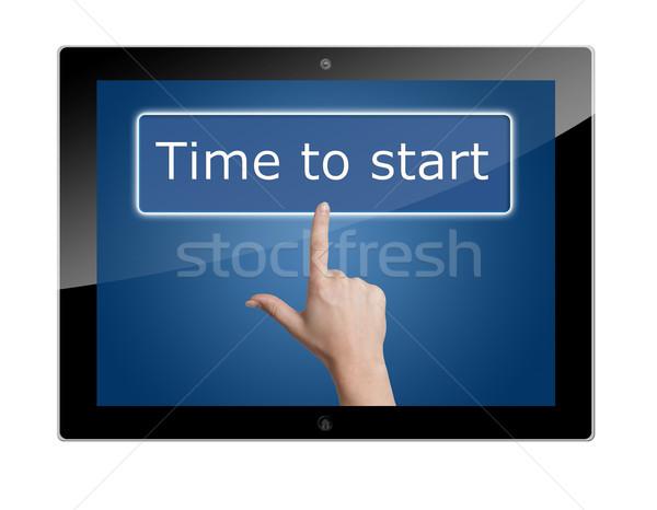 Tablet time to start Stock photo © Mazirama