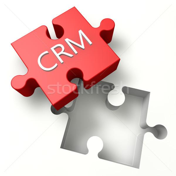 головоломки crm 3D клиентов отношения управления Сток-фото © Mazirama