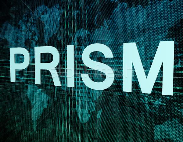 Prisma parole digitale mappa del mondo computer sfondo Foto d'archivio © Mazirama