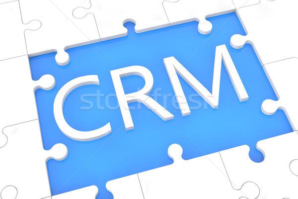 Puzzle CRM concept Stock photo © Mazirama