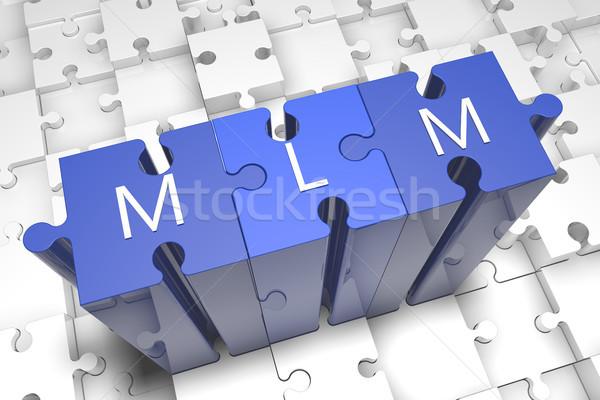 Niveau marketing puzzle rendu 3d illustration texte Photo stock © Mazirama