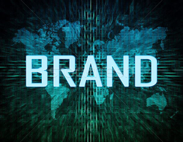 Сток-фото: марка · текста · зеленый · цифровой · Мир · карта · бизнеса