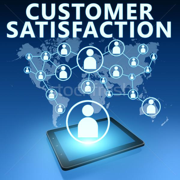 Satisfação do cliente ilustração azul serviço mercado Foto stock © Mazirama