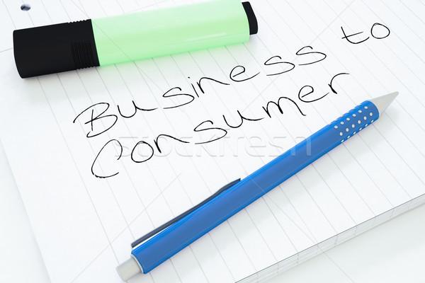 бизнеса потребитель текста ноутбук столе Сток-фото © Mazirama