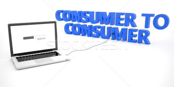 Tüketici dizüstü bilgisayar defter bilgisayar kelime beyaz Stok fotoğraf © Mazirama