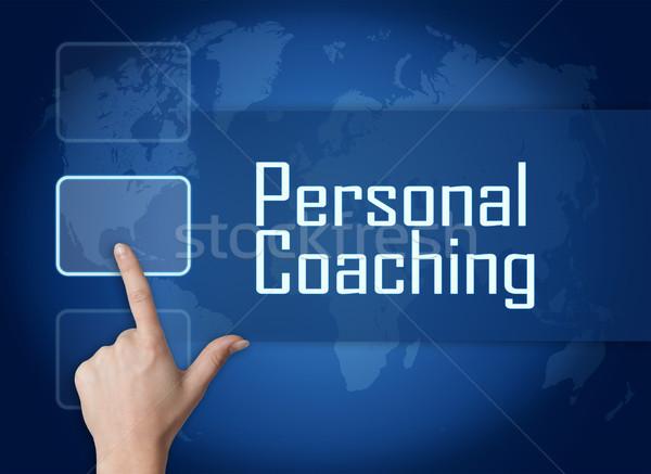 個人 コーチング インターフェース 世界地図 青 ビジネス ストックフォト © Mazirama