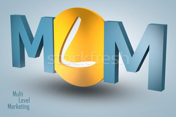 Niveau marketing acronyme rendu 3d illustration affaires Photo stock © Mazirama