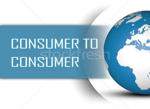Consument wereldbol witte internet brief communicatie Stockfoto © Mazirama