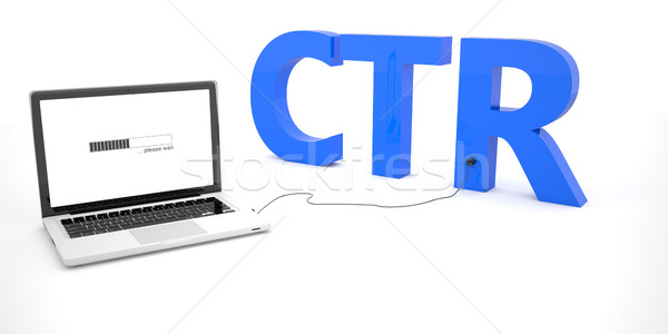 Clic portátil cuaderno ordenador palabra Foto stock © Mazirama