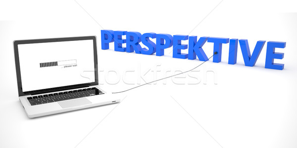 Palabra perspectiva portátil cuaderno ordenador blanco Foto stock © Mazirama