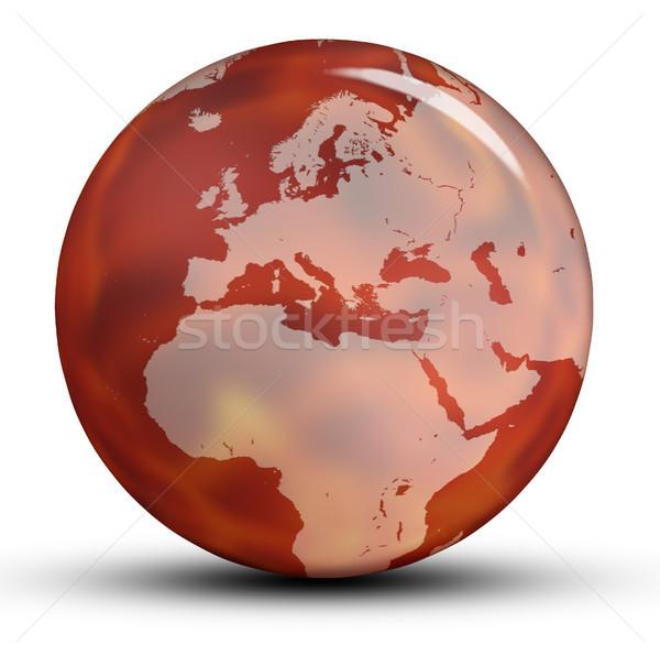 Dünya dünya kırmızı Avrupa gölge yalıtılmış Stok fotoğraf © Mazirama