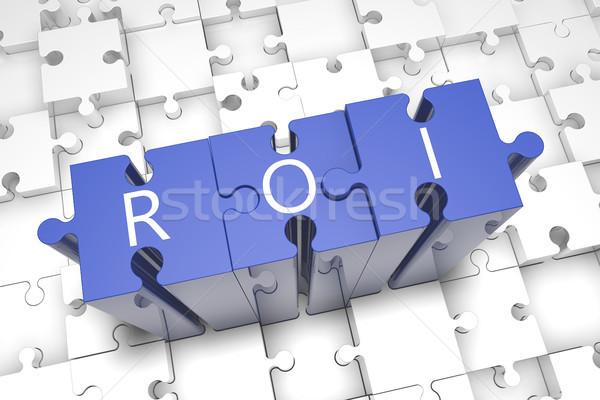 Visszatérés beruházás puzzle 3d render illusztráció levelek Stock fotó © Mazirama