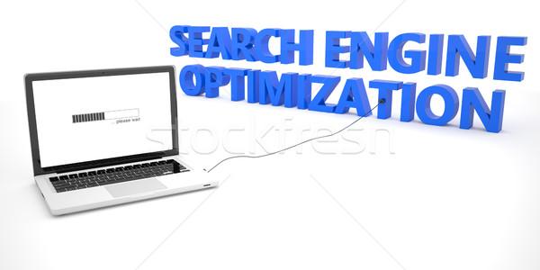 Keresőoptimalizálás laptop notebook számítógép szó fehér Stock fotó © Mazirama
