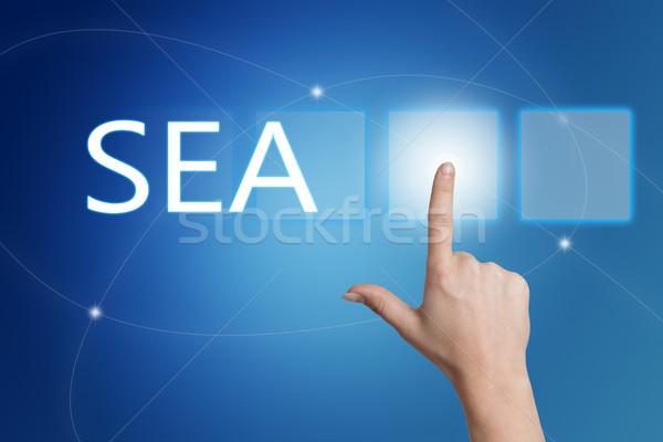 поисковая реклама морем стороны кнопки Сток-фото © Mazirama