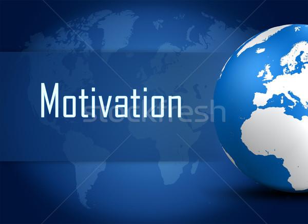 Stockfoto: Motivatie · wereldbol · Blauw · wereldkaart · wereld · achtergrond