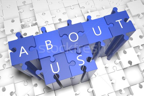 о компании головоломки 3d визуализации иллюстрация письма синий Сток-фото © Mazirama