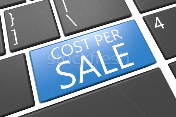 Kosztować sprzedaży klawiatury 3d ilustracja Zdjęcia stock © Mazirama