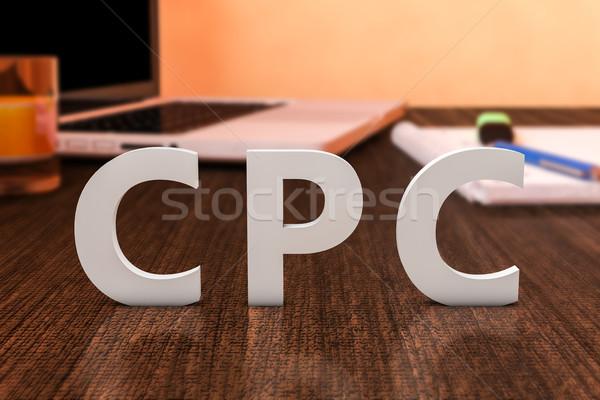 стоить щелчок письма столе Сток-фото © Mazirama
