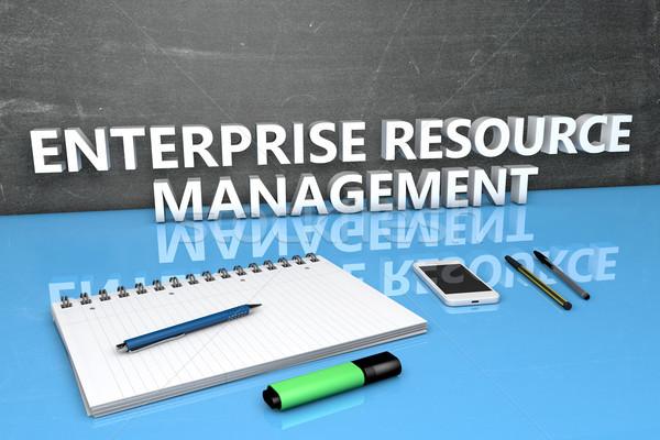 Empresa recurso gestão texto quadro-negro caderno Foto stock © Mazirama