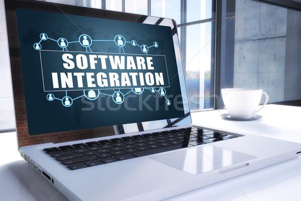 Software integração texto moderno laptop tela Foto stock © Mazirama