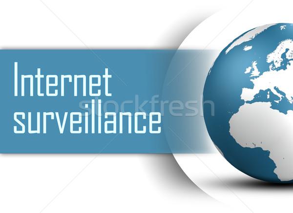 インターネット サーベイランス 世界中 白 セキュリティ ネットワーク ストックフォト © Mazirama
