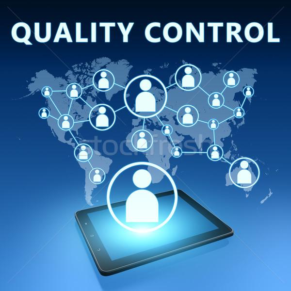 Kwaliteitscontrole illustratie Blauw klant concept Stockfoto © Mazirama