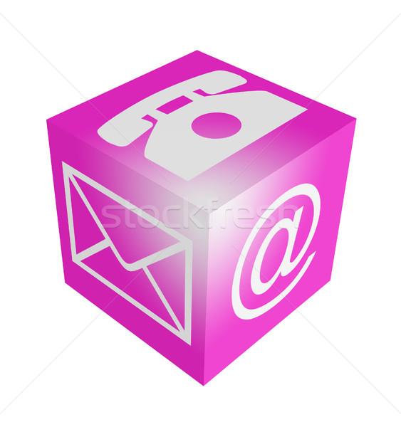 Contact cube Stock photo © Mazirama