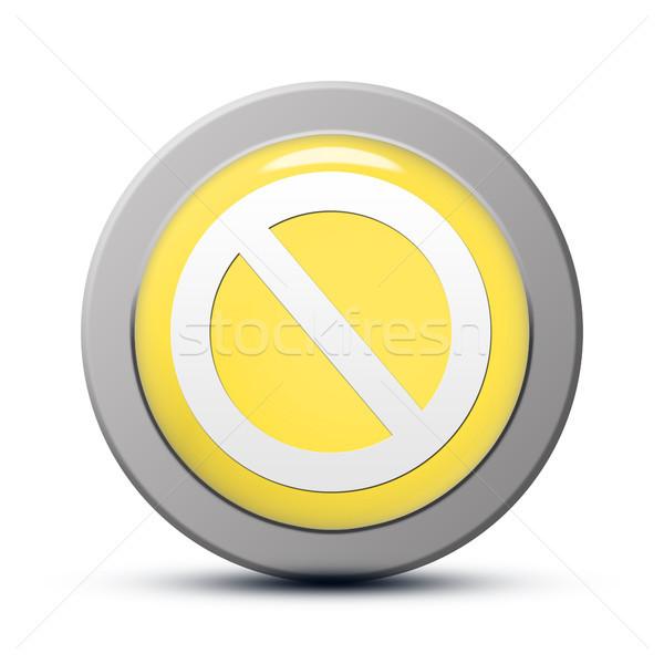 Hozzáférés elutasított ikon citromsárga gomb üzlet Stock fotó © Mazirama