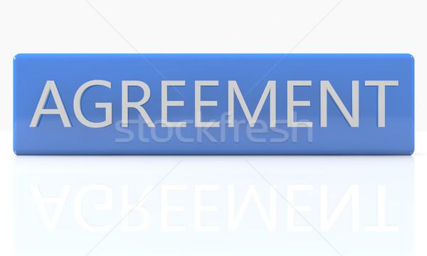соглашение 3d визуализации синий окна белый отражение Сток-фото © Mazirama