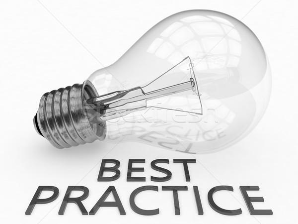 O melhor prática lâmpada branco texto 3d render Foto stock © Mazirama