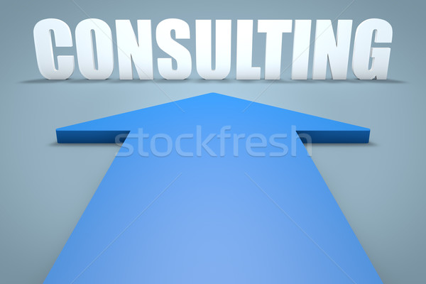 コンサルティング 3dのレンダリング 青 矢印 ポインティング ビジネス ストックフォト © Mazirama