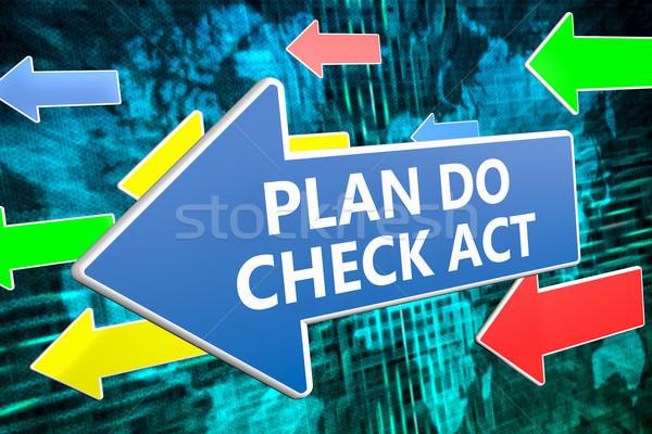 плана проверить Закон текста синий стрелка Сток-фото © Mazirama