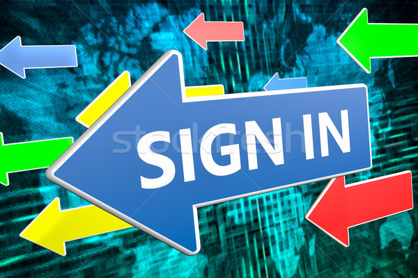 Stock photo: Sign in text concept