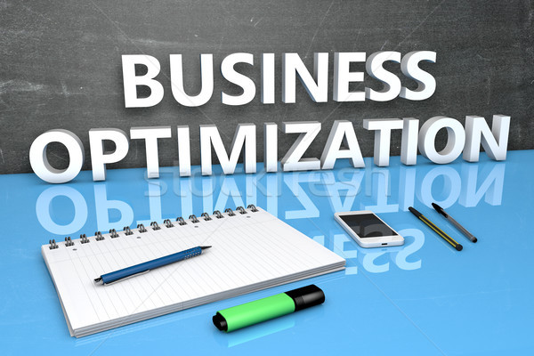 Affaires optimisation texte tableau portable stylos Photo stock © Mazirama