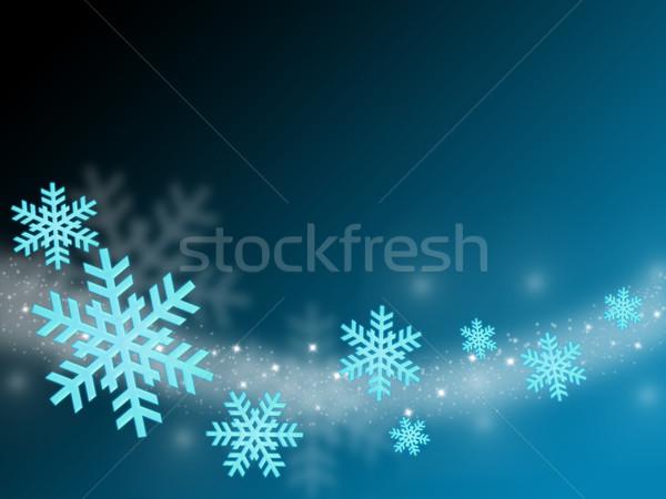 クリスマス カード 飛行 抽象的な 青 ストックフォト © Mazirama
