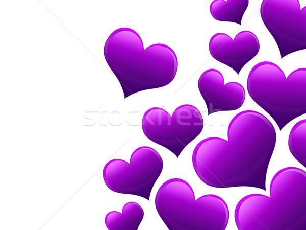 Sevgililer günü kart kalpler tüm mor doku Stok fotoğraf © Mazirama