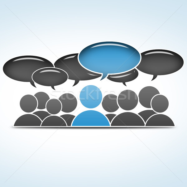 ソーシャルメディア グループ 通信 ビジネス インターネット 技術 ストックフォト © Mazirama