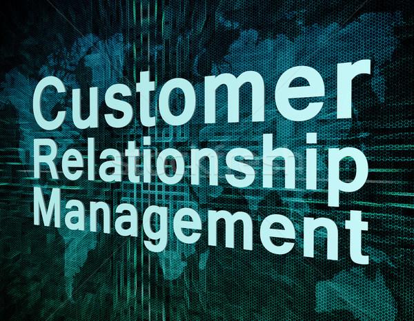 Crm маркетинга слов клиентов отношения управления Сток-фото © Mazirama