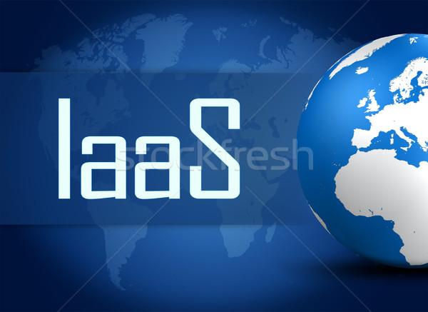 Infrastructuur dienst wereldbol Blauw wereldkaart internet Stockfoto © Mazirama
