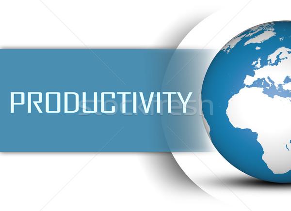 Produktivitás földgömb fehér üzlet munka csapat Stock fotó © Mazirama