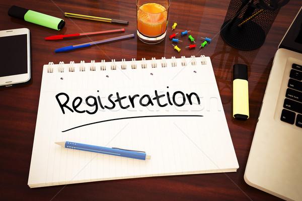 Stock photo: Registration
