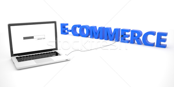 Ecommerce laptop notebook computer woord witte Stockfoto © Mazirama