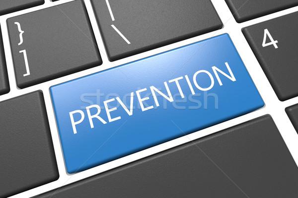 Prevención teclado 3d ilustración texto palabra Foto stock © Mazirama