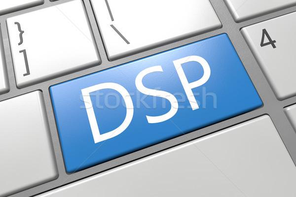 Nachfrage Seite Plattform Tastatur 3d render Illustration Stock foto © Mazirama