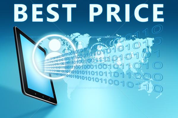 Mejor precio ilustración azul dinero tienda Foto stock © Mazirama