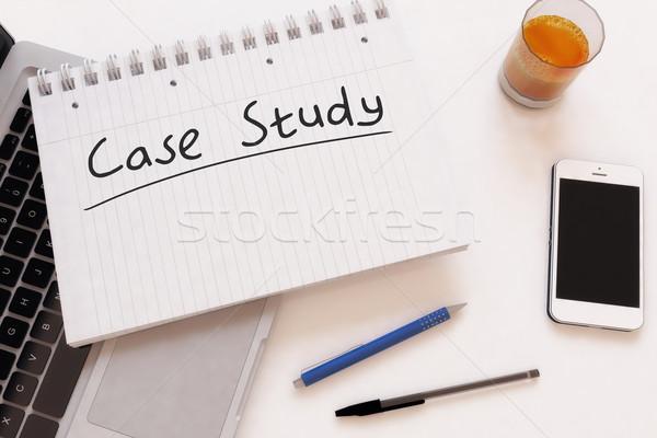 Caso estudio texto cuaderno escritorio Foto stock © Mazirama