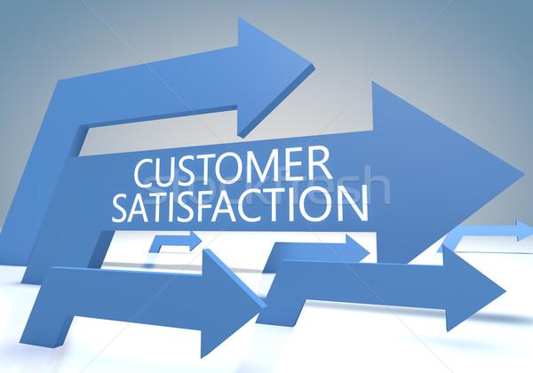 Satisfação do cliente tornar azul negócio mercado Foto stock © Mazirama