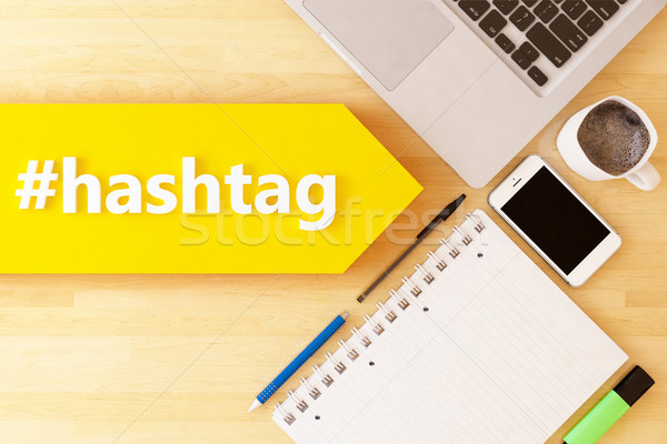 Hashtag Stock photo © Mazirama