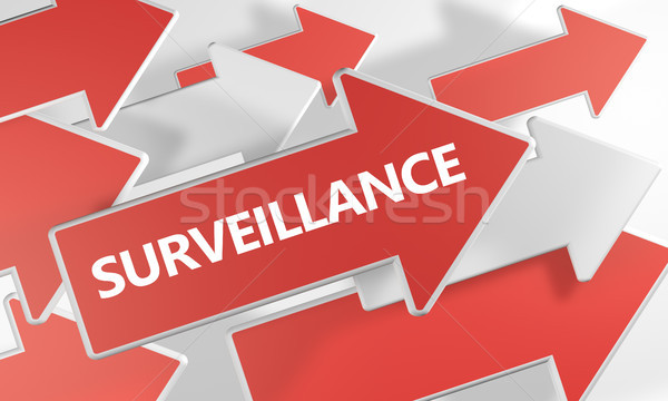 Surveillance text concept Stock photo © Mazirama