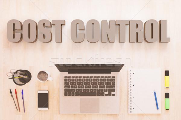 Custo controlar texto caderno computador Foto stock © Mazirama